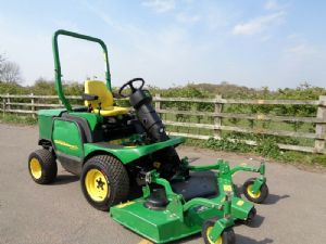 JOHN DEERE 1445 2012 RIDE ON ROTARY DIESEL MOWER for sale