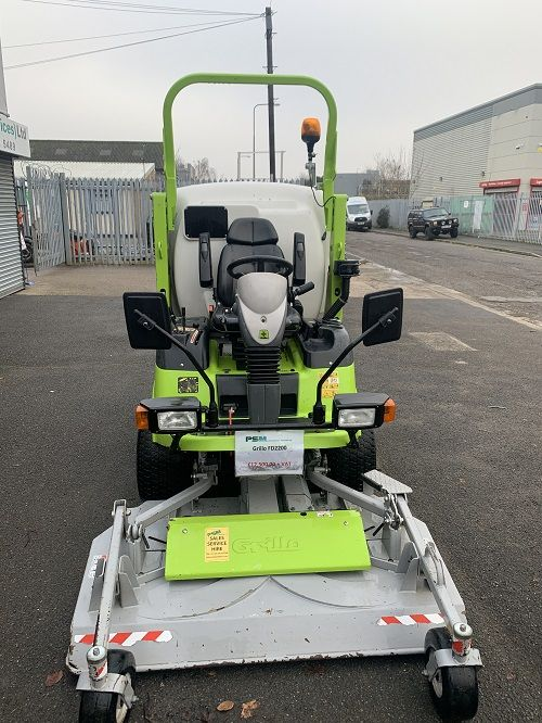 Grillo FD2200 Out Front Mower c/w High Tip Collector for sale